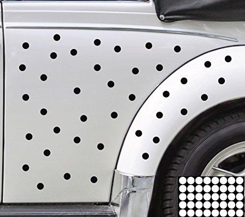 Kleb-drauf® - 40 Punkte/Mint - glänzend - Aufkleber zur Dekoration von Autos, Motorrädern und allen anderen glatten Oberflächen im Außenbereich; aus 19 Farben wählbar; in matt oder glänzend