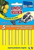 Set de 5 bâtonnets parfumées pour les aspirateurs avec citron x5 bâtonnets parfumées LINDO, 5 bâtonnets parfumés pour les aspirateurs made in Italy. article 317 Parodi & Parodi.
