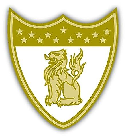Lion Shield Quality Mark Emblem De Haute Qualite Pare-Chocs Automobiles Autocollant 10 x 12 cm