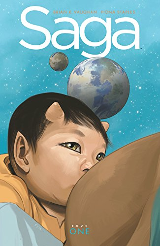(W) Brian K. Vaughan (A/CA) Fiona Staples At long last, a deluxe hardcover of the Eisner and Hugo Award-winning SAGA is finally here! Collecting the first 18 issues of the smash-hit series, this massive edition features a striking new cover, as well ...