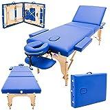 Massage Imperial - tragbare Profi-Massageliege Chalfont - leicht 14 Kg - 3 Zonen : Blau A01