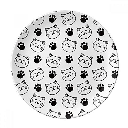 Paw Print lachende Katze Schützen Animal Pet Lover Porzellan Dekoration Dessertteller 25,4cm Abendessen Home Geschenk