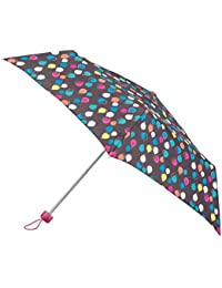 Totes Womens Supermini 3 Section Umbrella With A Large Raindrop Print