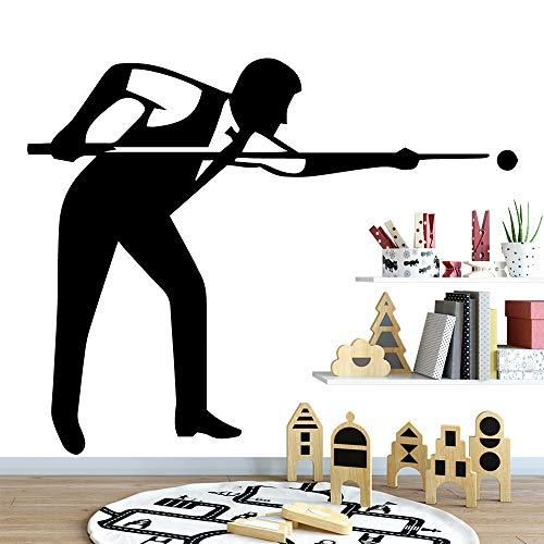 zqyjhkou Nuovo Design Tavolo da Biliardo Home Decor Adesivi da Parete in Vinile Adesivi Frigorifero Decorazione Accessori L 43cm X 49cm
