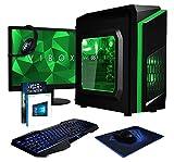 VIBOX FX-78 - Ordenador de sobremesa gaming (USB, AMD A8, RAM de 8 GB, disco duro de 1 TB, 3.1 GHz, Windows 10 Home) color verde