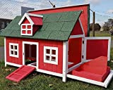 Chicken Coops Chicken Coop Hen House Ark Poultry Run Nest Box Rabbit Hutch Suitable For Up To 4 Birds - Internal secure removable nest box & Cleaning Tray - adjustable high or low perches