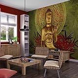 murando - Fototapete 350x270 cm - Vlies Tapete - Moderne Wanddeko - Design Tapete - Wandtapete - Wand Dekoration - - Buddha 10040907-44