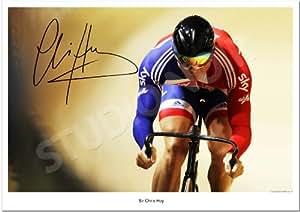 SIR CHRIS HOY SIGNED PHOTO AUTOGRAPH PHOTOGRAPH PRINT POSTER LONDON 2012 OLYMPICS CYCLING