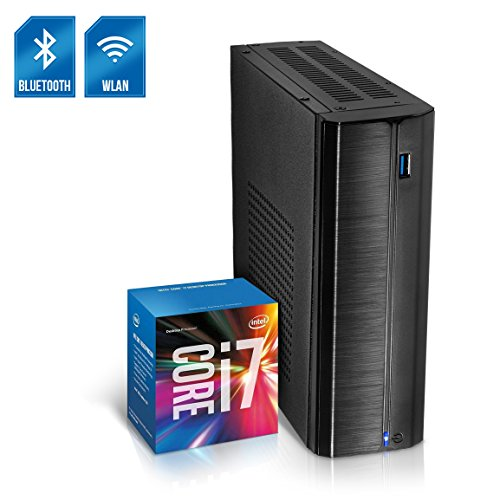 Kiebel Business Mini PC Nano 8.0 [190158] Intel Core i7 8700T 6x2.4GHz Sixcore (Turbo bis 4.0GHz), 8GB DDR4, 240GB SSD, Intel Grafik bis UltraHD(4K), HTPC, WLAN (433Mbit), Bluetooth, Energiespar Mini Computer