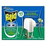 Raid Diffuseur Électrique Liquide, 1 Recharge, Moustiques et Moustiques Tigres, Huiles Essentielles d'Eucalyptus, 45 Nuits, Insecticide
