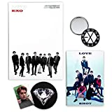 EXO 5th Repackage Album - LOVE SHOT [ SHOT ver. ] CD + Booklet + Photocard + FOLDED POSTER + FREE...