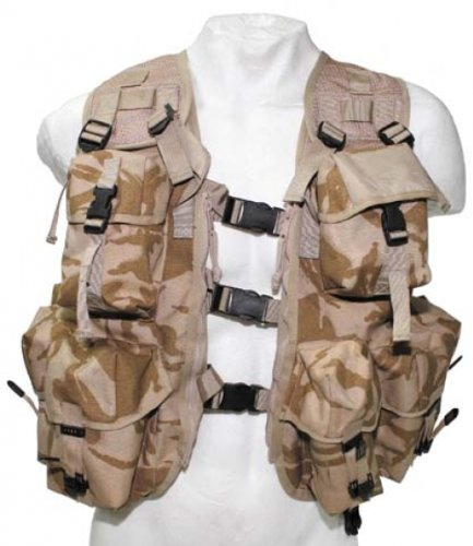 ORIGINAL BRIT. TACTICAL WESTE DPM desert Tacticalweste taktisch Paintball Gotcha