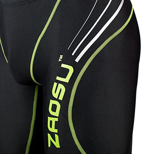 ZAOSU short de natation de compétition Z-noir - Hommes De Maillots De Bain noir/vert