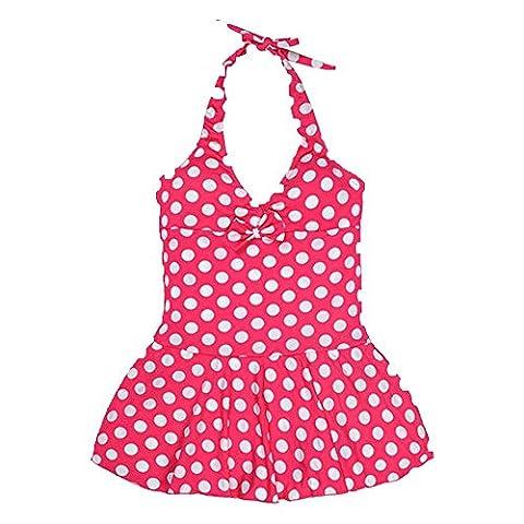 Girls Swimwear - TOOGOO(R) Children's Lovely Wave Point One Piece