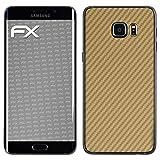 atFolix Samsung Galaxy S6 Edge Plus Skin FX-Carbon-Gold Designfolie Sticker - Carbon-Struktur/Carbon-Folie