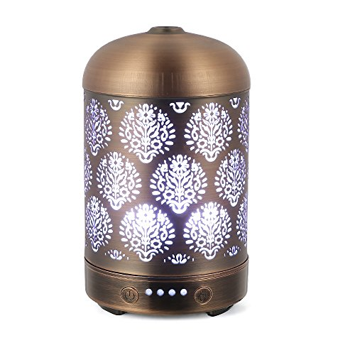 Foto de COOSA Aroma Difusor Ultrasónico,100ml,humidificador de niebla Fresca,Patrón del Diente de León, con luz colorida LED, Ideal para su hogar y Oficina