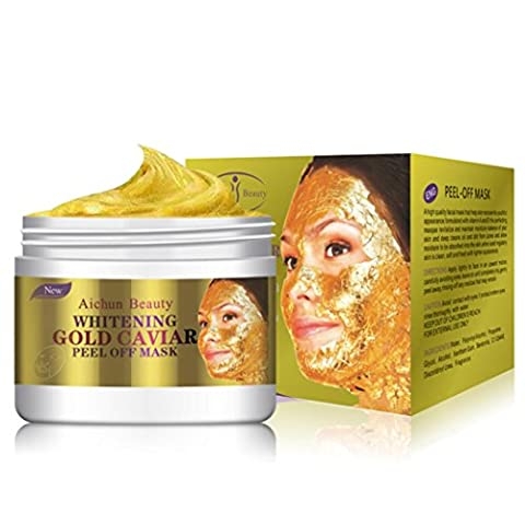 Peel Off Facial Mask,24K Gold Collagen Peel Off Facial Mask Face Skin Moisturizing Firming Anti Aging Beauty
