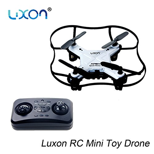 Boys Toys Drones for Beginners Kids Girls Indoor or Outdoor RC Quadcopter with 4 Channel 2.4 GHz 6-axis Gyro RTF (White) By Luxon