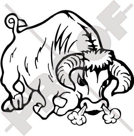 taurus-raging-bull-torro-stierkampf-1626-cm-162-mm-vinyl-bumper-aufkleber-aufkleber-22-farben-zur-au
