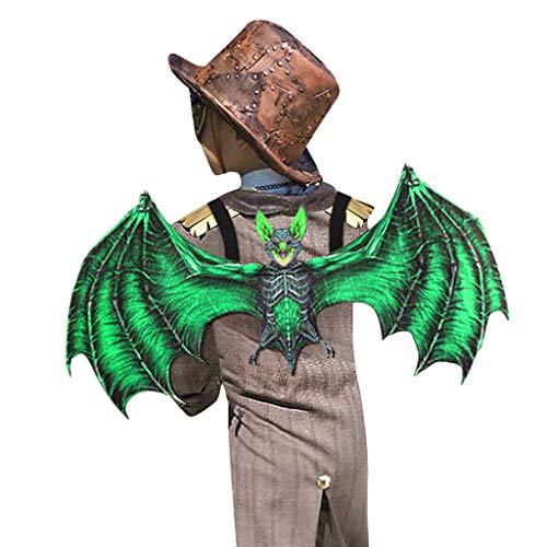 SHINEHUA Halloween Cosplay Bat Kostüme mit Flügel Bat Brille für Kinder Jungen Mädchen Venezianische Maskerade Maske Kostüm Verkleidung Karneval Fasching Kostüm