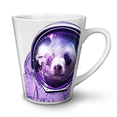 Maske Kostüm Reflexion - Wellcoda Astronaut Panda Bär Latte BecherRaumfliegen Kaffeetasse - Komfortabler Griff, Zweiseitiger Druck, robuste Keramik