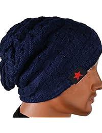 Demarkt Bonnet Tricoté Homme Femme Reversible Chapeau Tricot Bonnet Crochet Chapeau Beret Casquette Hiver