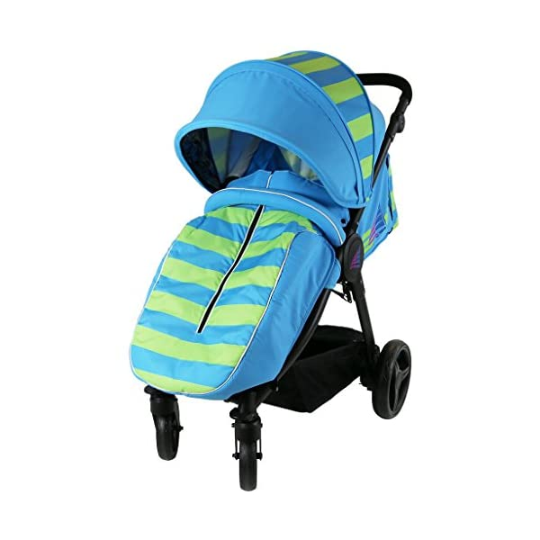iSAFE Sail Stroller - 7 Colours! (Ocean/Lime) iSafe Media Viewing Extendable Hood Light Weight Sturdy Structure 1