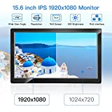 "Eyoyo 15.6"" Monitor IPS LCD HD Display 1920x1080 Video Colori Display Audio con HDMI/AV/VGA/BNC/USB Input per PC VCD Laptop Camera Raspberry Pi 3 2 1 Dvd"