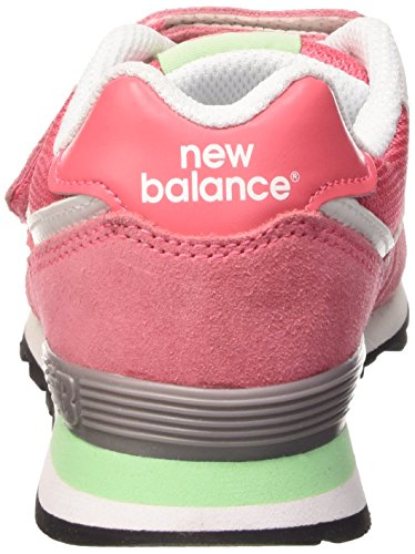 New Balance KG574 Unisex-Kinder Sneakers Pink/Green Suede/Mesh