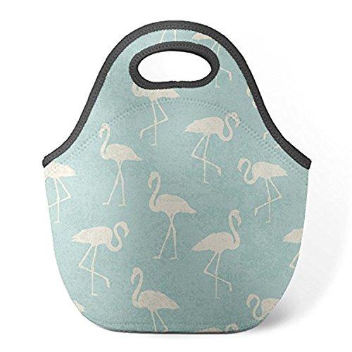 ZMvise Teal Watercolor Flamingo Pattern les sacs réutilisables pique - nique déjeuner tote isolés boîtes hommes femmes enfants toddler infirmières sac de voyage
