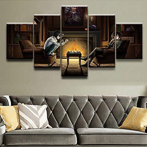 Tela Moderna Stampa HD Wall Art Immagine modulare Soggiorno Decorazione 5 Pezz