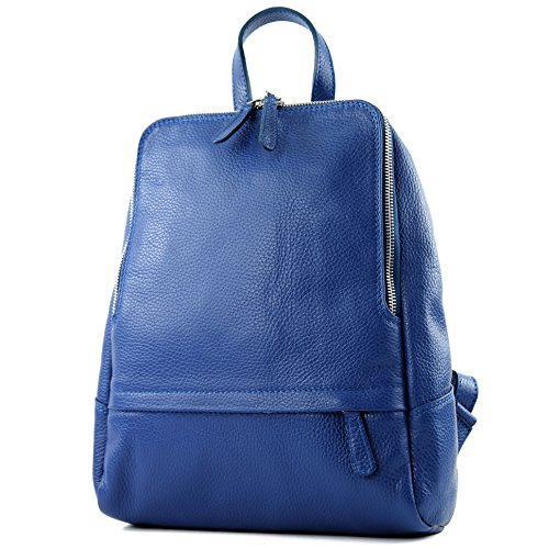 modamoda de - ital. Zaino in pelle Zaino donna Zaino Borsa Citybag in pelle T138 Blau
