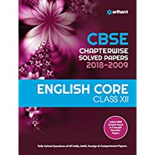 CBSE Chapterwise Solved Papers ENGLISH CORE Class 12 for 2018-2019