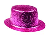 Boland 04181 - Cappello Cilindro Glitter Sparkling Party, Colori Assortiti