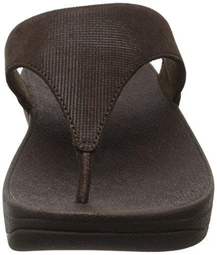 Toe Sandali Shimmer Toe Open perizoma Fitflop Donna check Lulu cioccolato Marrone Ww7Z4qqxT0