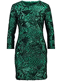 TFNC PARIS - Etuikleid - tonal green sequin Gr. XL