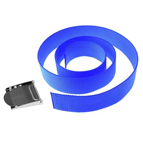 Sharplace Unisex 1,5m Tauchgürtel Bleigurt Tauchen Sport Gürtel (Blau) mit Edelstahl Gürtelschnalle Gürtelschliesse