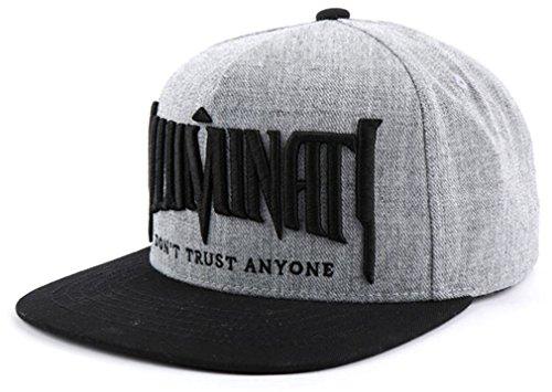 Sujii ILLUMINATI Embroidery Baseball Cap casquette de baseball Trucker Hat Snapback Cap/Grey
