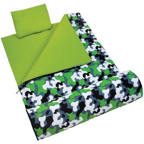 wildkin-green-camo-original-sleeping-bag-by-wildkin