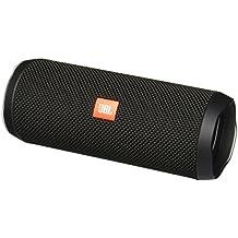 JBL Flip 4un entièrement équipée, étanche et son haut-parleur Bluetooth avec surprenant kraftvollem Mobile Noir