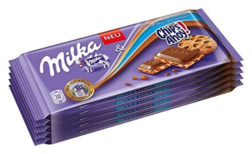 Trifft Auf Amerika (Milka Chips Ahoy limitierte Edition, Tafelschokolade mit Keksstückchen, 100g, 10er Pack (10 x 100 g))