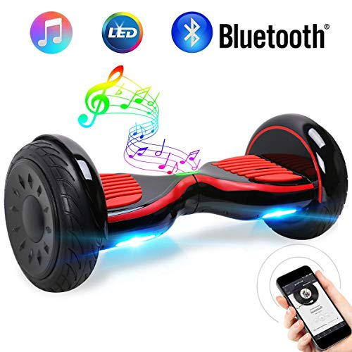 "Windgoo Hoverboard 10""Smart Self Balance Scooter con Bluetooth, por la borda con LED Scooter de Equilibrio automático Certificación UL 2272, Motor 2 * 350W"