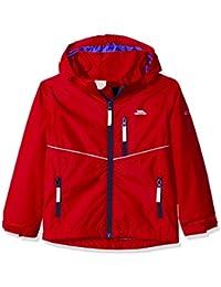 Trespass Kids Hattrick Waterproof Rain/Outdoor Jacket with Removable Hood