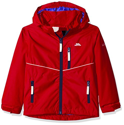 Trespass Kids Hattrick Waterproof Rain/Outdoor Jacket with Removable Hood
