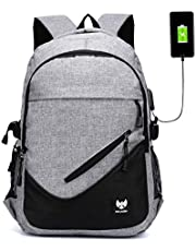 Fur Jaden Anti Theft Waterproof USB Charging 25 Ltrs Grey Casual Backpack (BM30_Grey)