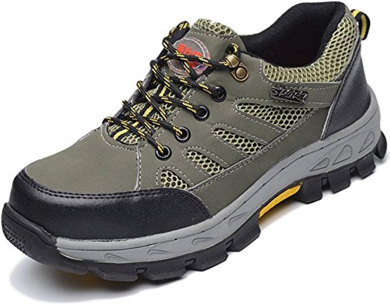 LDZY Zapatos De Senderismo Transpirables Para Hombres Anti-smashing Anti-puncture Escalada Trekking Shoes Zapatos