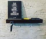Forbidden Designs | T6 Schlüsselbrett Nuss geölt mit Schlüsselfräsung und Ablagefach Wandbrett …