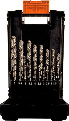 Projahn 67380 Coffret de 19 forets HSS-Co Speed 1-10 mm