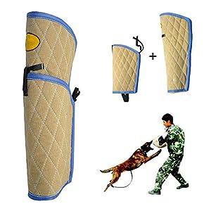 GOCO Equipement D'Education De Chien Chiot Manche De Protection Manche Anti Morsure avec Baton Parure De Dressage - Équipement agilité