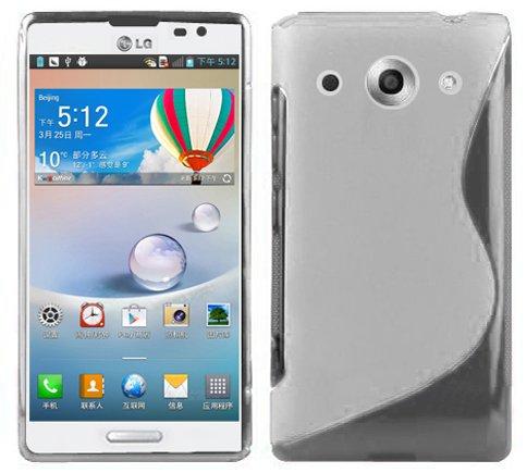 Cadorabo Hülle für LG Optimus G Pro Hülle in Handyhülle aus flexiblem TPU Silikon im S-Line Design Silikonhülle Schutzhülle Soft Back Cover Case Bumper Magnesium Weiß (Case G Optimus Lg Gummi Pro)